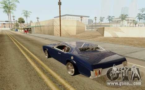 HD Sabre Greedy for GTA San Andreas left view