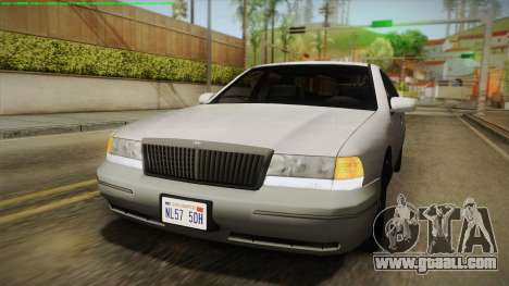 Willard Elegant IVF for GTA San Andreas back view