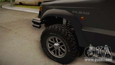 Mitsubishi Pajero 3-Door Off-Road for GTA San Andreas back left view