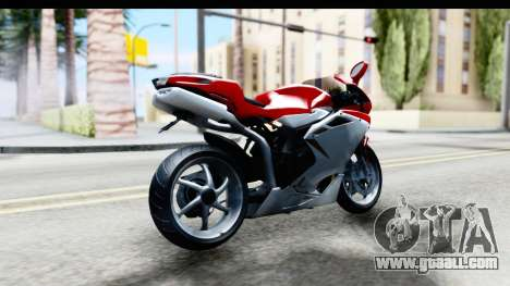 MV Agusta F4 for GTA San Andreas back left view
