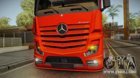 Mercedes-Benz Actros Mp4 6x2 v2.0 Steamspace v2 for GTA San Andreas inner view