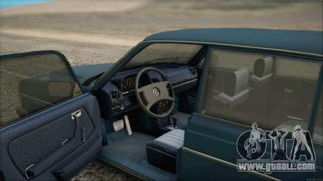 Mercedes-Benz 240D for GTA San Andreas back left view