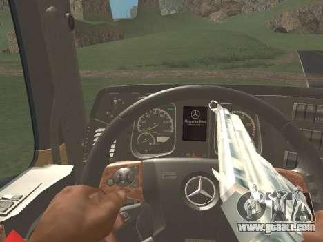 Mercedes-Benz Actros Mp4 6x4 v2.0 Bigspace v2 for GTA San Andreas upper view