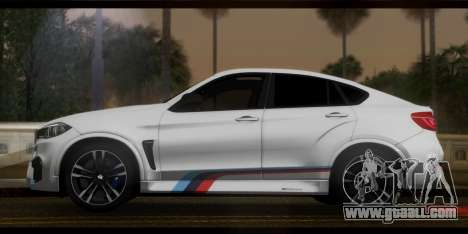 BMW X6M F86 M Performance for GTA San Andreas back left view