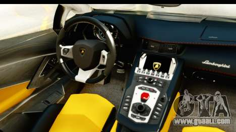 Lamborghini Aventador LP700-4 Roadster v2 for GTA San Andreas inner view