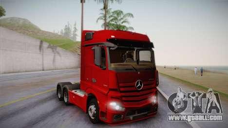 Mercedes-Benz Actros Mp4 6x4 v2.0 Bigspace v2 for GTA San Andreas