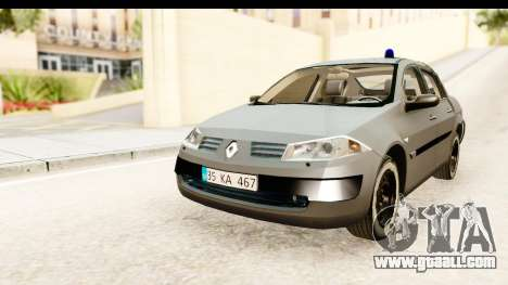 Renault Megane 2 Sedan Unmarked Police Car for GTA San Andreas back left view
