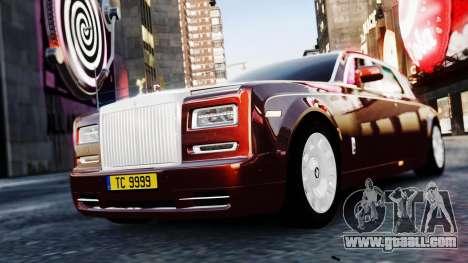 Rolls-Royce Phantom EWB 2013 for GTA 4 back left view