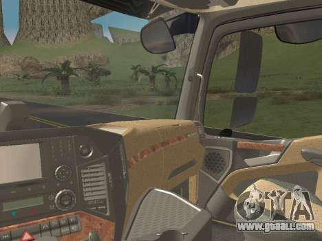 Mercedes-Benz Actros Mp4 6x2 v2.0 Steamspace v2 for GTA San Andreas bottom view