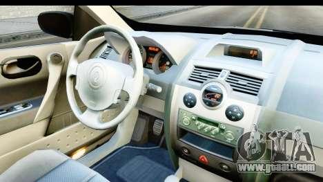 Renault Megane 2 Sedan 2003 v2 for GTA San Andreas inner view