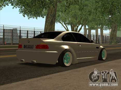 BMW E46 for GTA San Andreas back left view