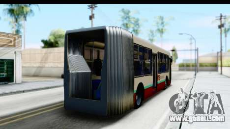 Metrobus de la Ciudad de Mexico for GTA San Andreas left view