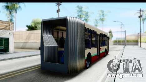 Metrobus de la Ciudad de Mexico for GTA San Andreas left view