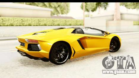 Lamborghini Aventador LP700-4 Roadster v2 for GTA San Andreas left view