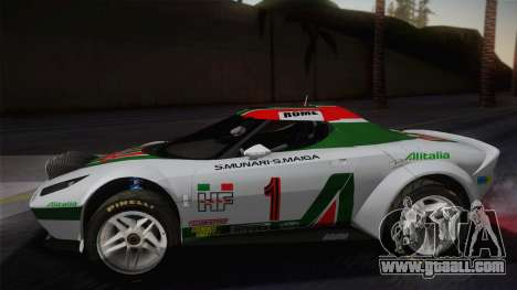 Lancia Stratos for GTA San Andreas back left view