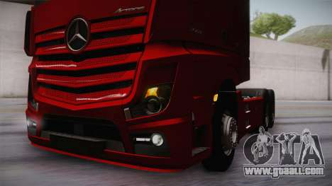 Mercedes-Benz Actros Mp4 6x4 v2.0 Bigspace v2 for GTA San Andreas side view