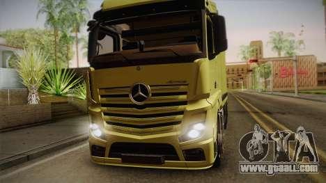 Mercedes-Benz Actros Mp4 v2.0 Tandem Big for GTA San Andreas back left view