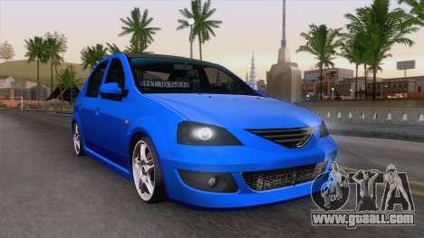 Dacia Logan Cocalar Edition for GTA San Andreas back view