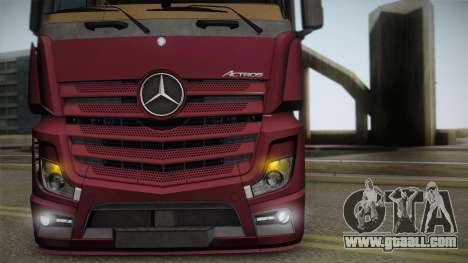 Mercedes-Benz Actros Mp4 4x2 v2.0 Bigspace v2 for GTA San Andreas right view