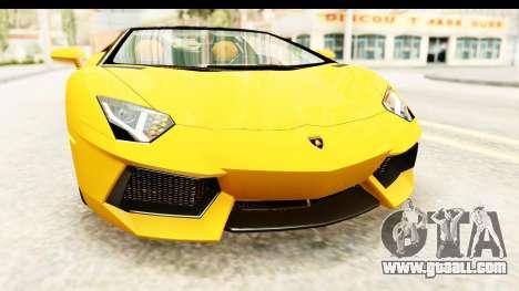 Lamborghini Aventador LP700-4 Roadster v2 for GTA San Andreas upper view