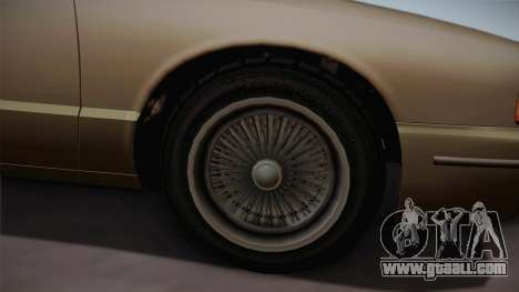 Declasse Premier 1992 SA Style for GTA San Andreas back view