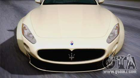 Maserati Gran Turismo Rocket Bunny for GTA San Andreas back left view