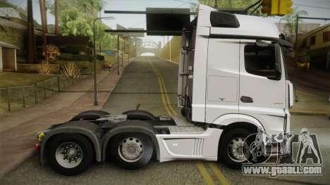 Mercedes-Benz Actros Mp4 6x2 v2.0 Bigspace v2 for GTA San Andreas left view