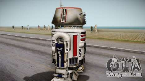 R5-D4 Droid from Battlefront for GTA San Andreas back left view