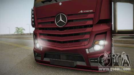 Mercedes-Benz Actros Mp4 4x2 v2.0 Bigspace v2 for GTA San Andreas back left view