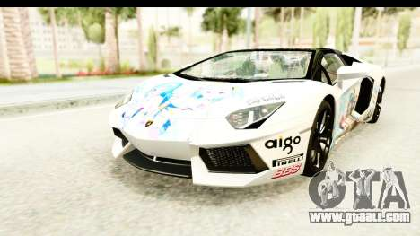 Lamborghini Aventador LP700-4 Roadster v2 for GTA San Andreas engine