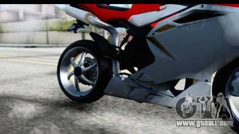 MV Agusta F4 for GTA San Andreas inner view