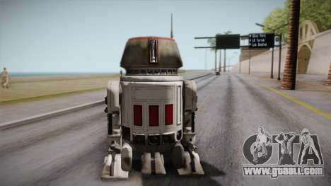 R5-D4 Droid from Battlefront for GTA San Andreas left view