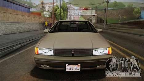 Declasse Premier 1992 SA Style for GTA San Andreas inner view