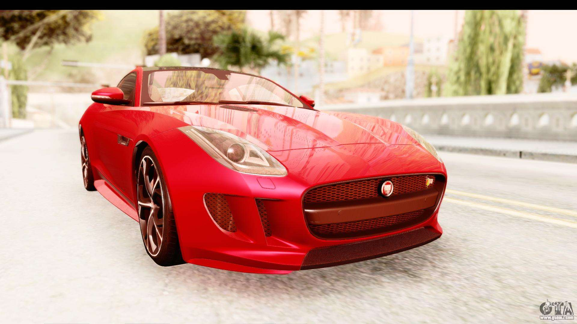 jaguar f type r coupe 2015 for gta san andreas. Black Bedroom Furniture Sets. Home Design Ideas