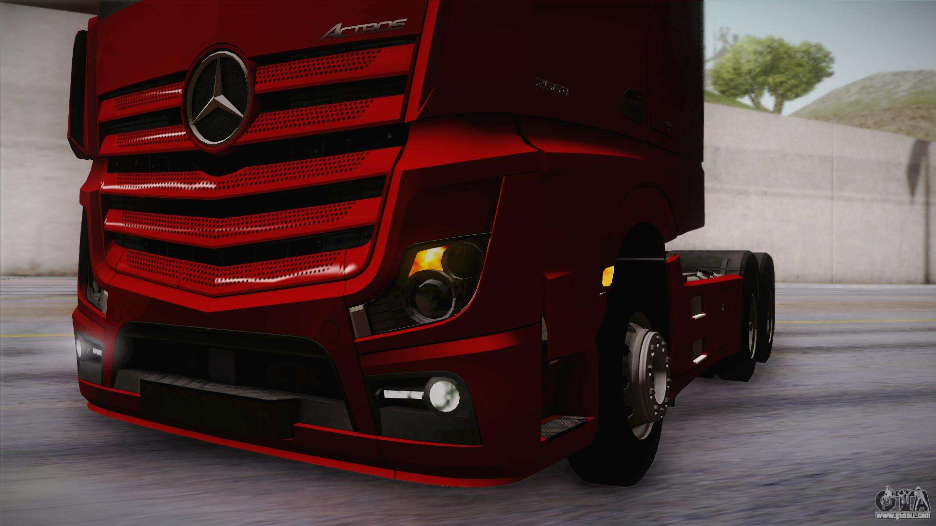 mercedes benz actros mp4 6x4 v2 0 bigspace v2 for gta san. Black Bedroom Furniture Sets. Home Design Ideas