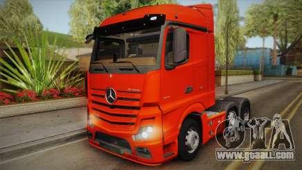 Mercedes-Benz Actros Mp4 6x2 v2.0 Steamspace v2 for GTA San Andreas