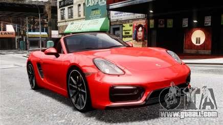 Porsche Boxster GTS 2014 for GTA 4