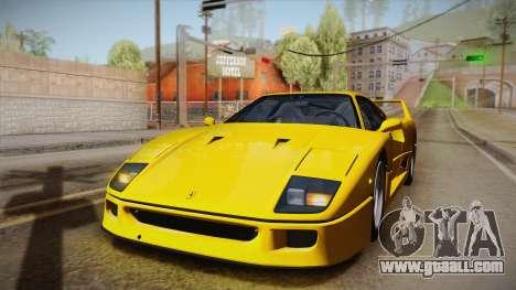 Ferrari F40 (EU-Spec) 1989 IVF for GTA San Andreas side view