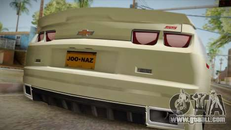 Chevrolet Camaro Synergy for GTA San Andreas back view