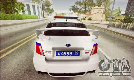 Subaru Impreza WRX STI Police for GTA San Andreas