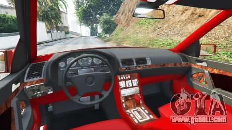 GTA 5 Mercedes-Benz W140 AMG orange signals [replace] front right side view