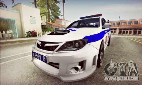 Subaru Impreza WRX STI Police for GTA San Andreas left view