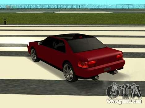 Sultan Kaefoon for GTA San Andreas back left view