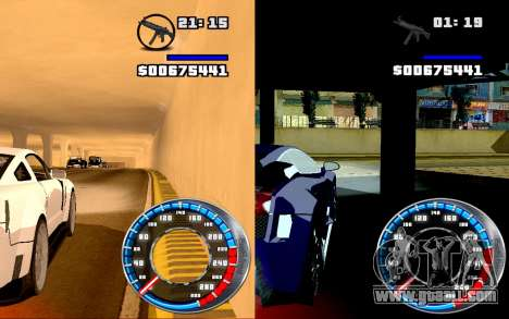 Speedometer GTA SA Style V4x3 for GTA San Andreas third screenshot