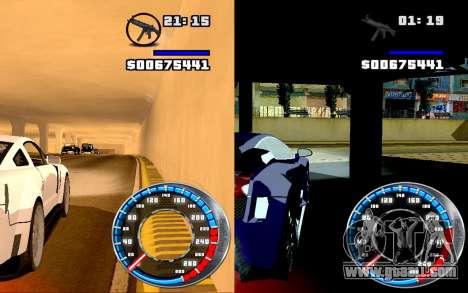 Speedometer GTA SA Style V16x9 (widescreen) for GTA San Andreas third screenshot