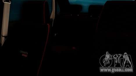 Lada Granta for GTA San Andreas interior
