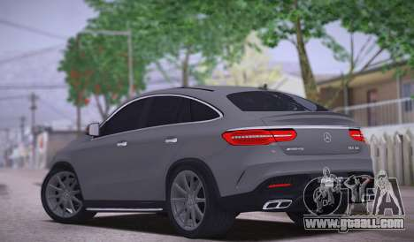 Mercedes-Benz GLE AMG for GTA San Andreas back left view