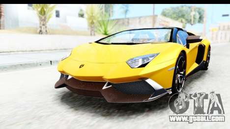 Lamborghini Aventador LP720-4 Roadster 2013 for GTA San Andreas right view