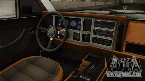 Jeep Grand Wagoneer Limite 1986 for GTA San Andreas inner view