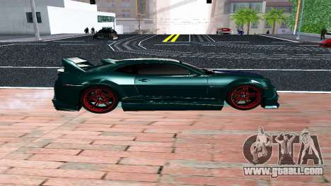 CHEVROLET CAMARO SS LIGHT TUNING for GTA San Andreas left view